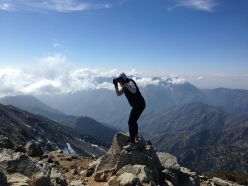 The top of Mount Baldy in SoCal - love and gratitude to Joshua Cooper for helping me make the climb.